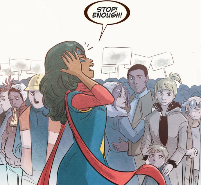 How To Create Comics Manga: Ms. Marvel #13 Review: The Voting Comic That Feels Awkward Now
