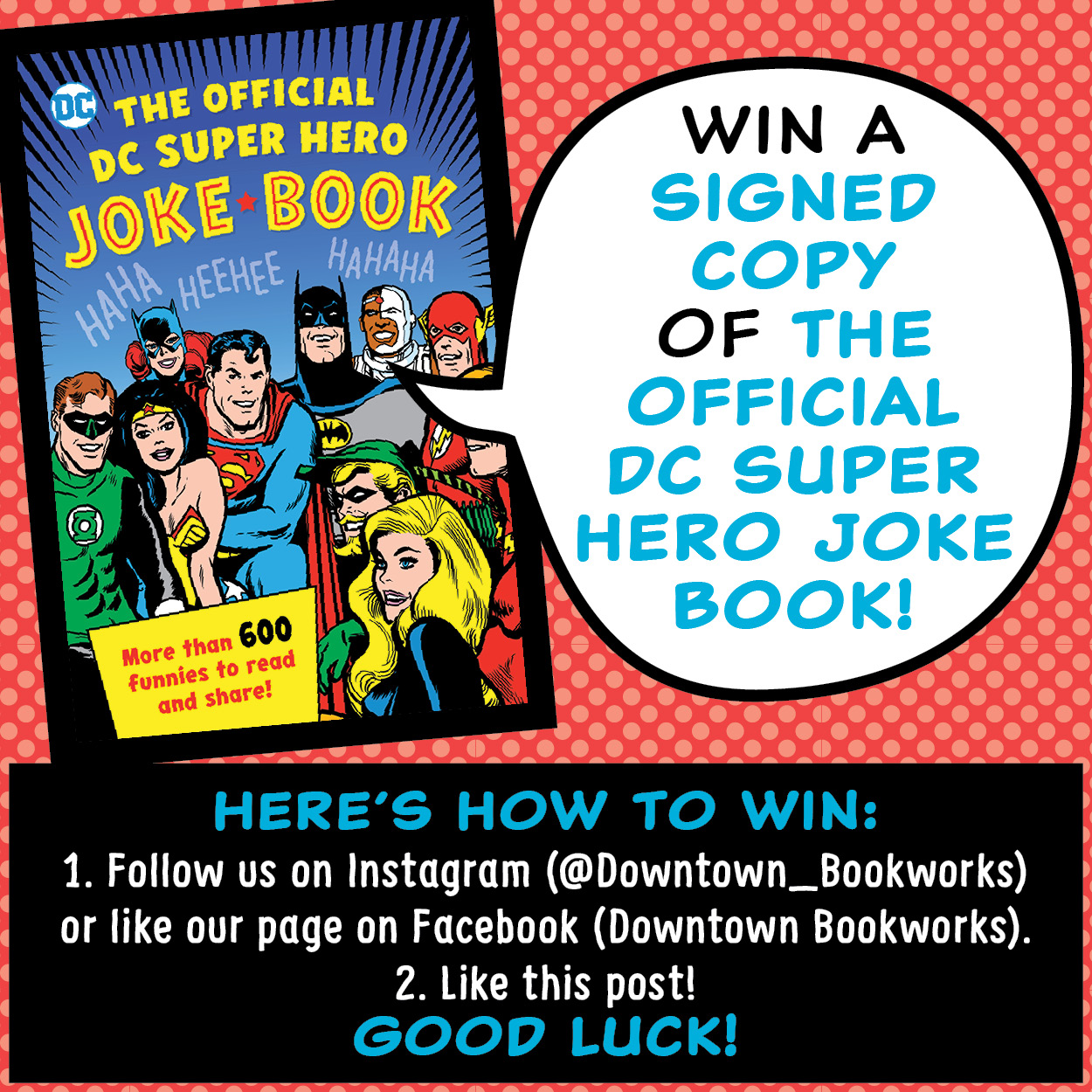 Official DC Super Hero Joke Book Giveaway From Downtown