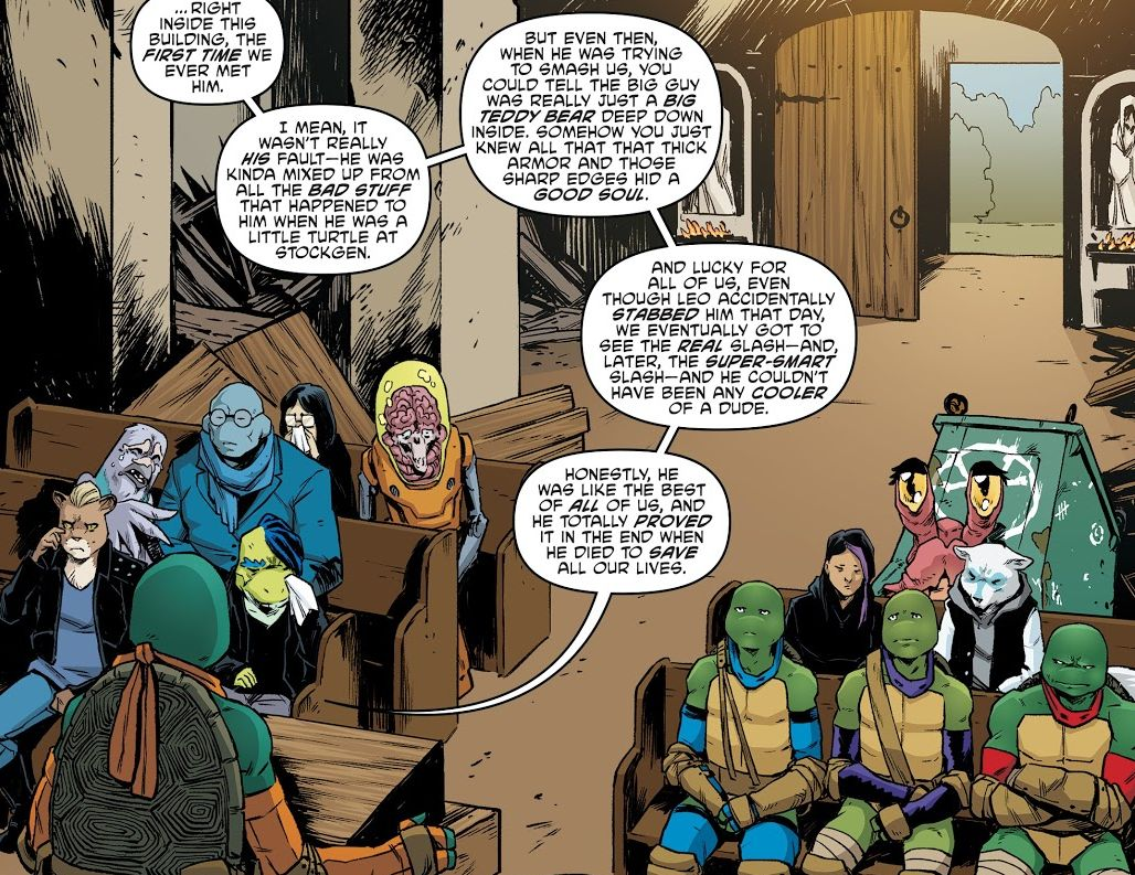 Teenage Mutant Ninja Turtles No  90 Review: Funeral for a