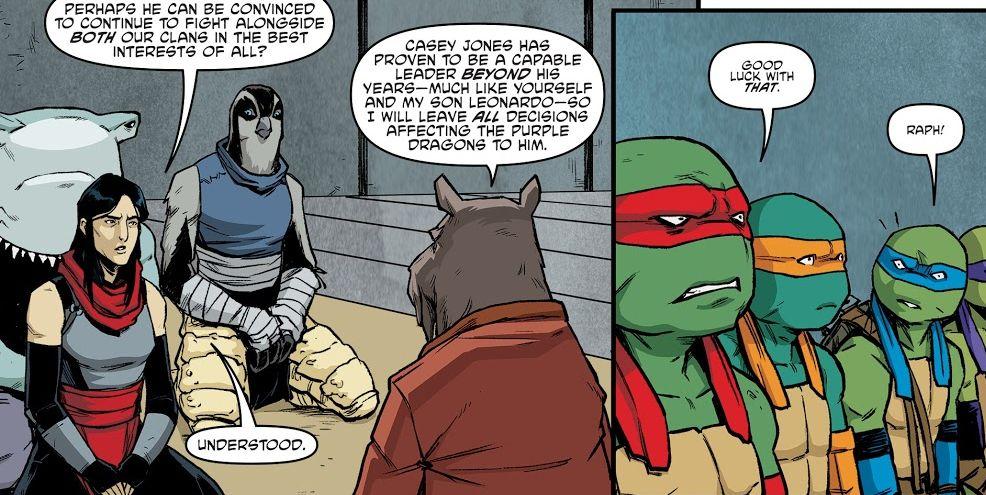 Teenage Mutant Ninja Turtles No  92 review: A Foot Clan negotiation