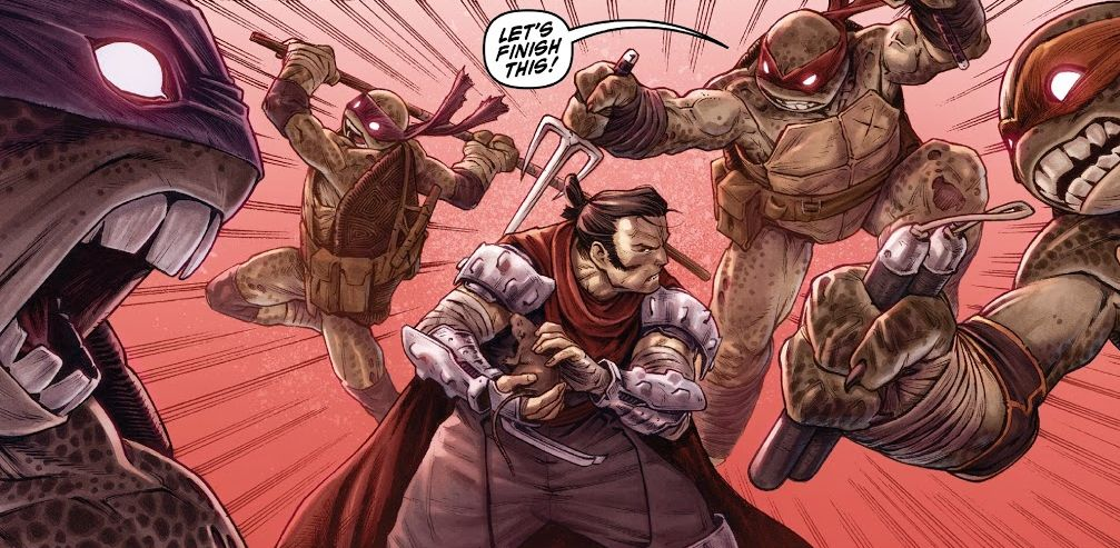 TMNT: Shredder in Hell No. 2 review: Saki versus Zombie ...