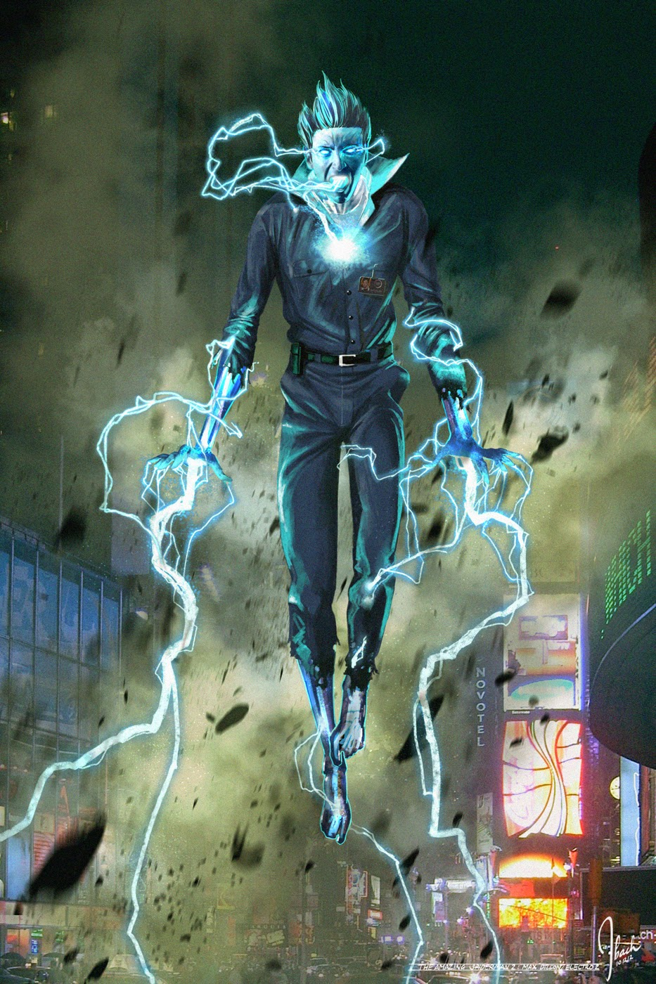 Amazing Spider-Man 2 Electro concept art