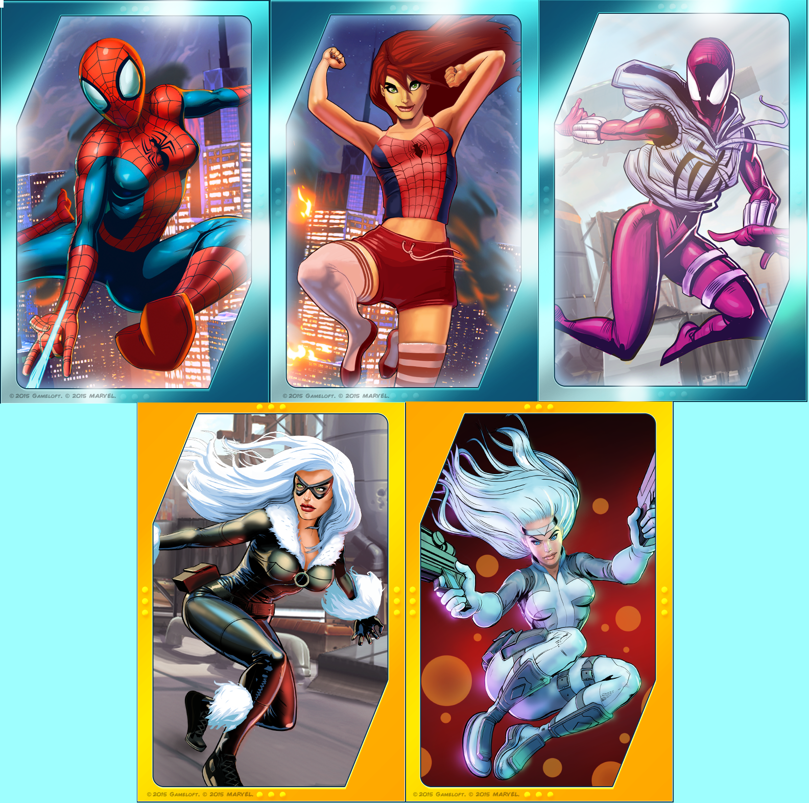 the strength of spider-man unlimited and future fight's female